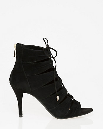Suede Open Toe Ghillie Tie Shootie