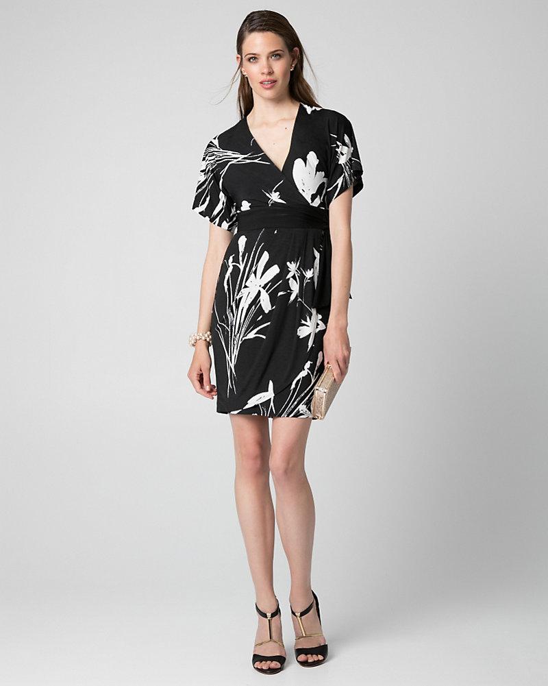 Floral Print Knit Kimono Dress | LE CHÂTEAU