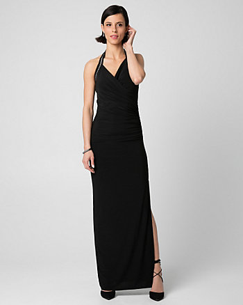 Knit Halter Maxi Dress