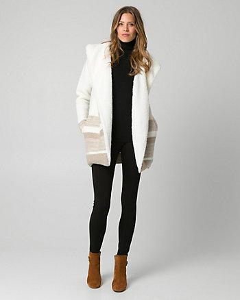 Faux Sherpa & Wool Blend Coatigan
