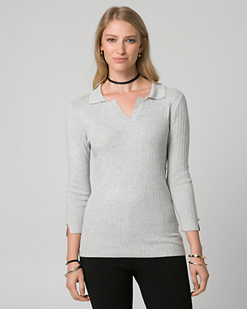 Viscose Blend Polo Sweater