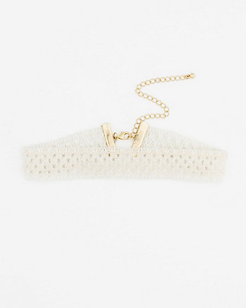 Corded Lace Choker Necklace