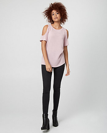 Cut & Sew Knit Scoop Neck Top