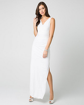 Jersey V-Neck Gown