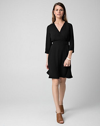 Tricoteen Faux Wrap Dress