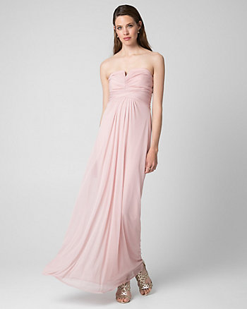 Sheer Knit Sweetheart Gown