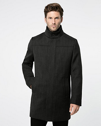 Textured Wool Twill Topcoat