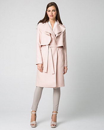 Lyocell Notch Collar Trench Coat