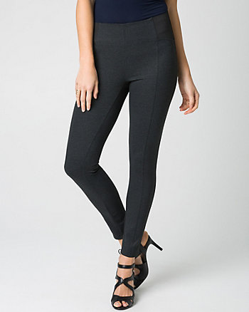 Houndstooth Ponte Skinny Leg Ankle Pant