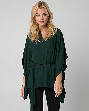 Rib Jersey V-Neck Poncho Top