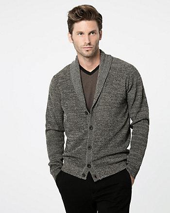 Textured Shawl Collar Cardigan