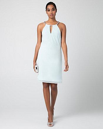 Knit Halter Cocktail Dress