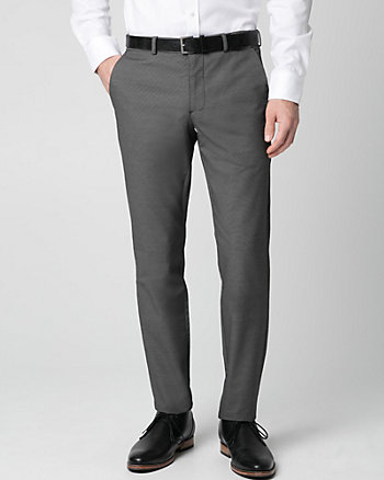 Tonal Cotton Blend Slim Leg Pant