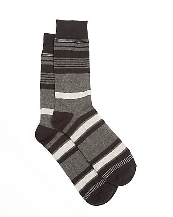 Stripe Cotton Blend Ankle Socks