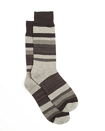 Stripe Cotton Blend Socks