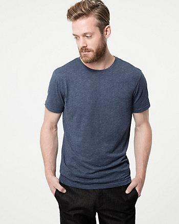 Tonal Slub Crew Neck T-Shirt