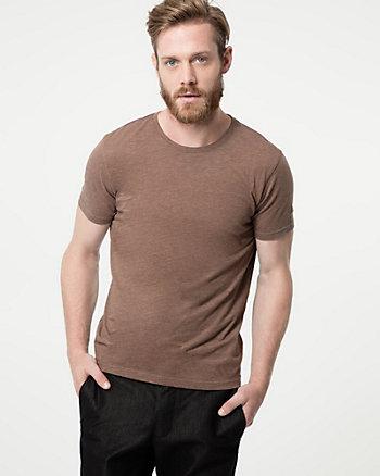 T-shirt à motif ton sur ton