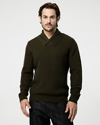 Knit Shawl Collar Sweater