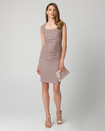 Sparkle Knit Square Neck Cocktail Dress