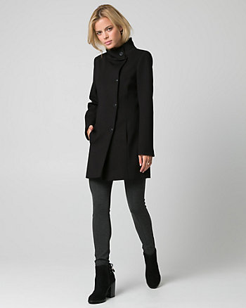 Ponte Funnel Neck Coat