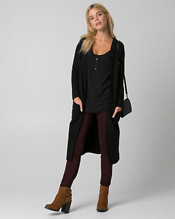Textured Bouclé Sweater Coat