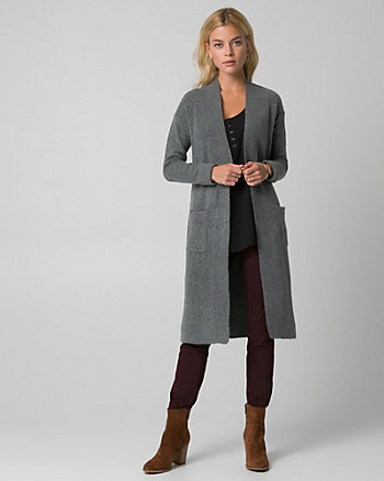 Textured Bouclé Sweater Coat