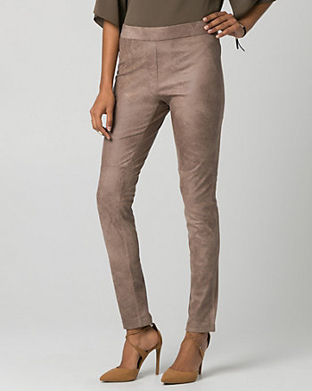 Faux Suede Skinny Leg Pant