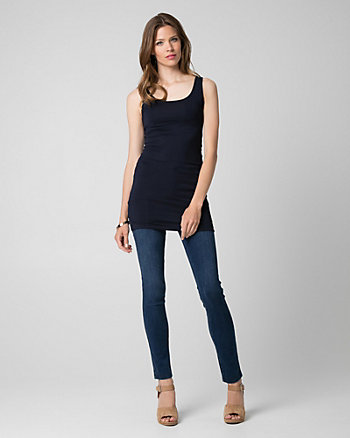 Essential Knit Scoop Neck Tunic Tank Top