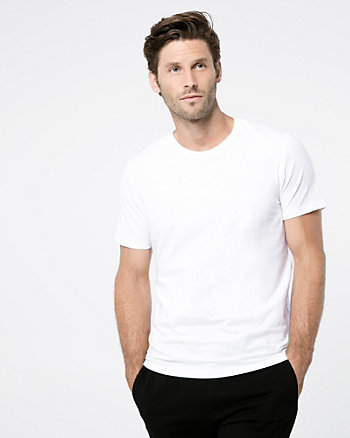 Cotton Blend Crew Neck Tee