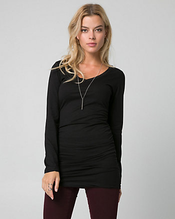 Cotton & Modal V-Neck Tunic