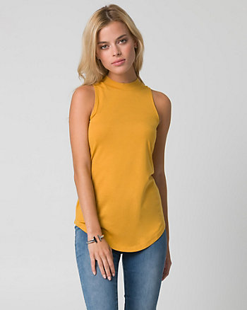 Jersey Mock Neck Top