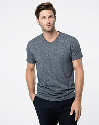 Tweed V-Neck T-Shirt