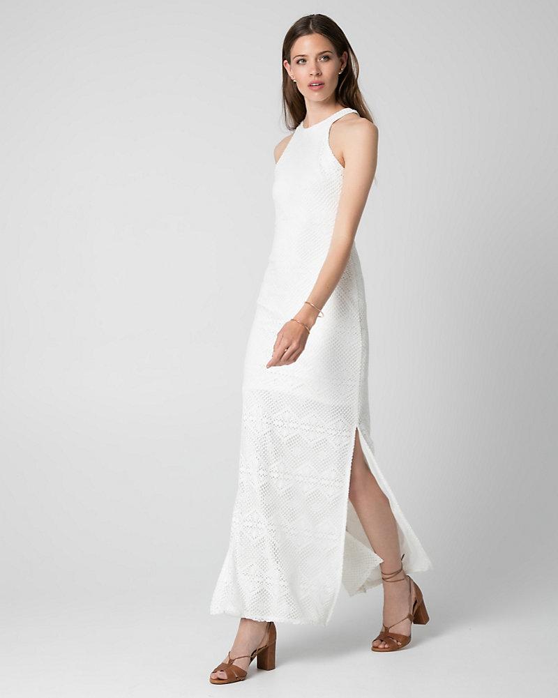7c48313a1cbad Crochet Halter Maxi Dress