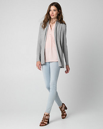Jersey Open-Front Cardigan