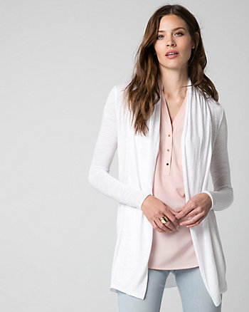 Modal Open-Front Cardigan