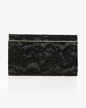 Lace & Satin Frame Clutch