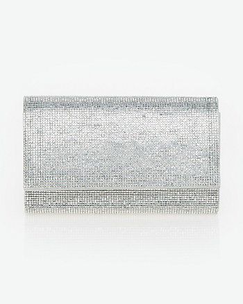 Jewel Embellished Flapover Clutch