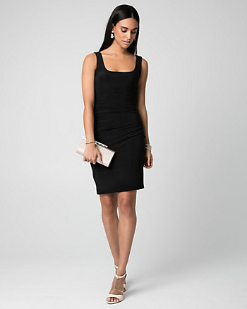 Knit Scoop Neck Shift Dress