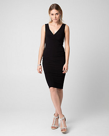 Knit V-Neck Shift Dress