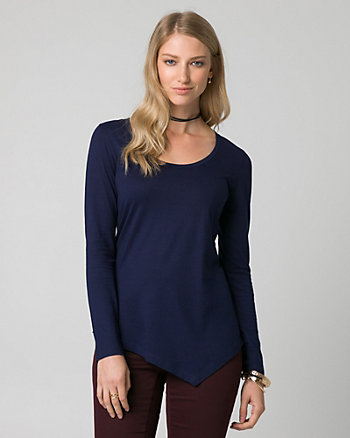 Cotton & Modal Asymmetrical Top