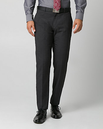 Tonal Crosshatch Straight Leg Pant