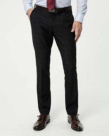Pantalon à carreaux en mélange de laine