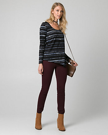Stripe Cotton & Modal Asymmetrical Top