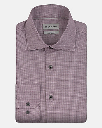 Check Print Cotton Blend Regular Fit Shirt