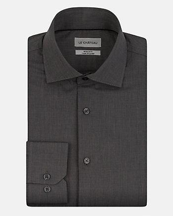 Chemise de coupe régulière en coton