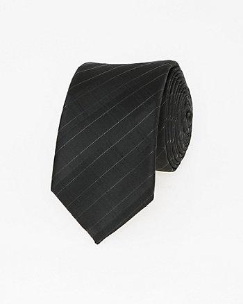 Tonal Plaid Woven Skinny Tie
