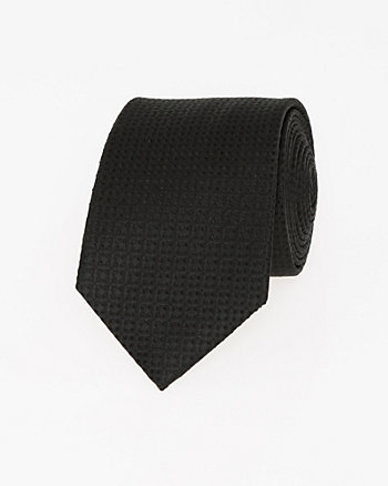 Tonal Diamond Print Silk Tie