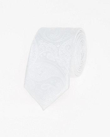 Tonal Paisley Microfibre Skinny Tie