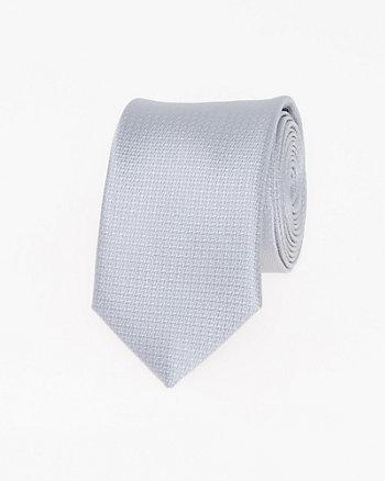 Cravate étroite à pois en microfibre