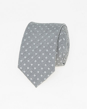 Two-Tone Viscose Blend Skinny Tie